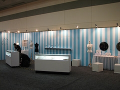 White Jewelry Display